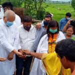By Brahmapur MP Land Puja for the restoration of Jagannath and Gopinath temple at Garbandha